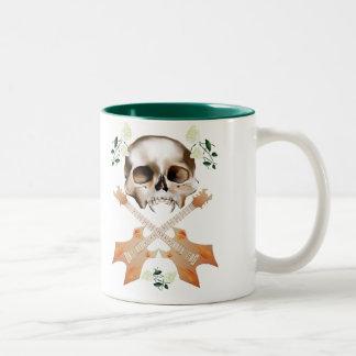 Skull-Guitar-White Rose Mug