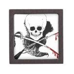 Skull Gun Sword and Blood Premium Jewelry Boxes