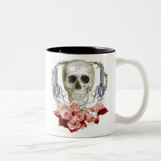 SKULL GUNS and ROSES Coffee Mugs