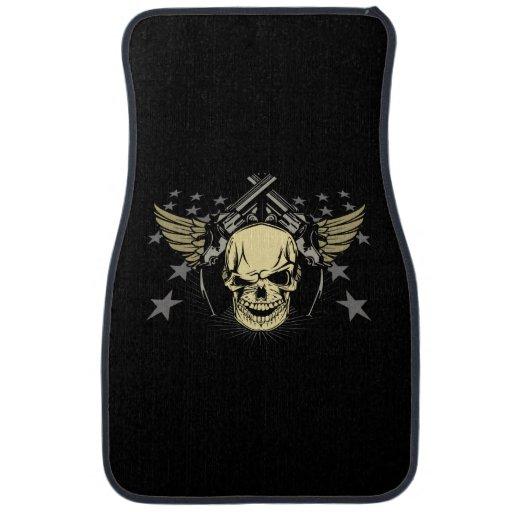 Skull Guns Wings Stars Auto Floor Mats Car Mat | Zazzle
