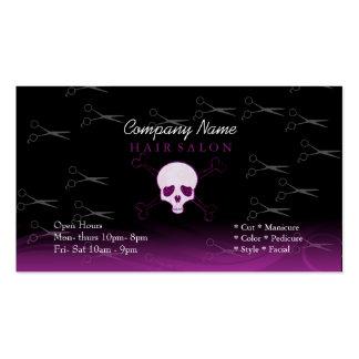 Skull hair salon business card