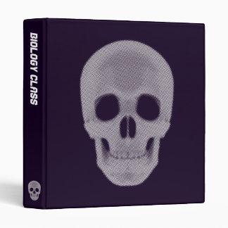 Skull Halftone Colored 3 Ring Binder