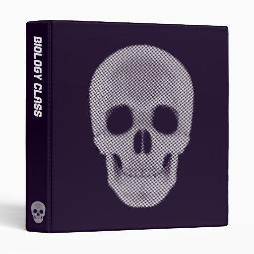 Skull Halftone Colored Binder
