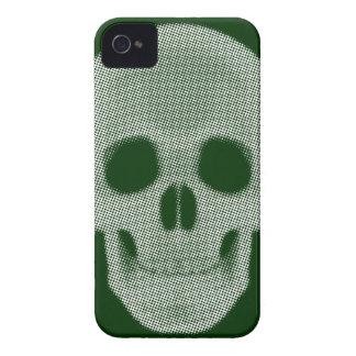 Skull Halftone Colored iPhone 4 Case-Mate Case