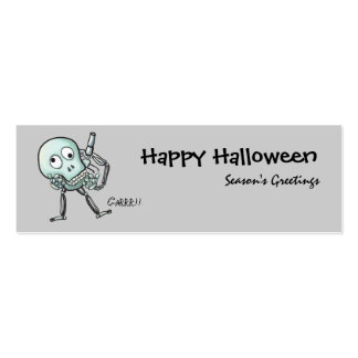 Skull halloween bookmark Double-Sided mini business cards (Pack of 20)