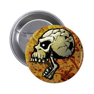 Skull Halloween Button