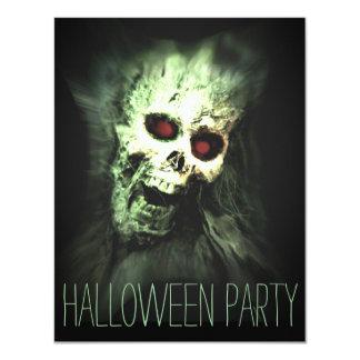 Skull Halloween Party Adult Invitations