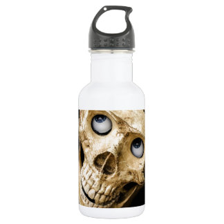skull halloween people mask dummy scary holidays stainless steel water bottle