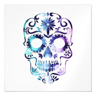 Skull Halloween Symbol Magnetic Card