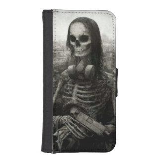 skull haloween iPhone SE/5/5s wallet case