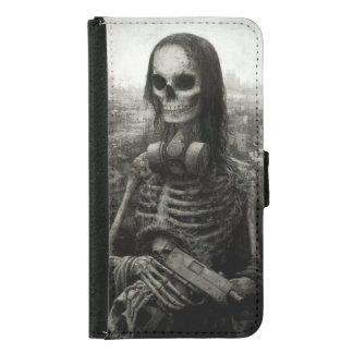 skull haloween samsung galaxy s5 wallet case