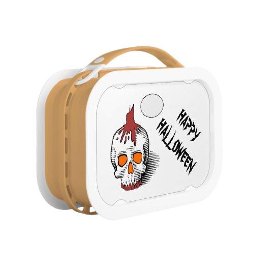 Skull Happy Halloween Lunch Box