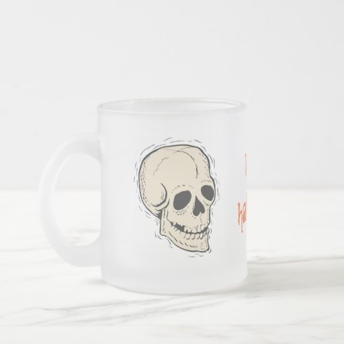 Skull Happy Halloween Mug mug