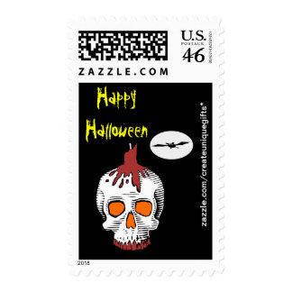 Skull Happy Halloween Postage Stamp