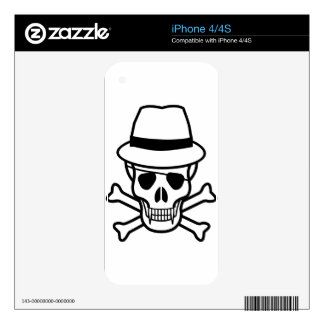 skull-hat iPhone 4 skins