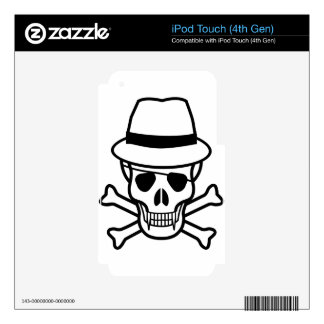 skull-hat iPod touch 4G skin