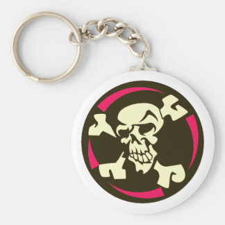 Skull head bone skull bones keychain