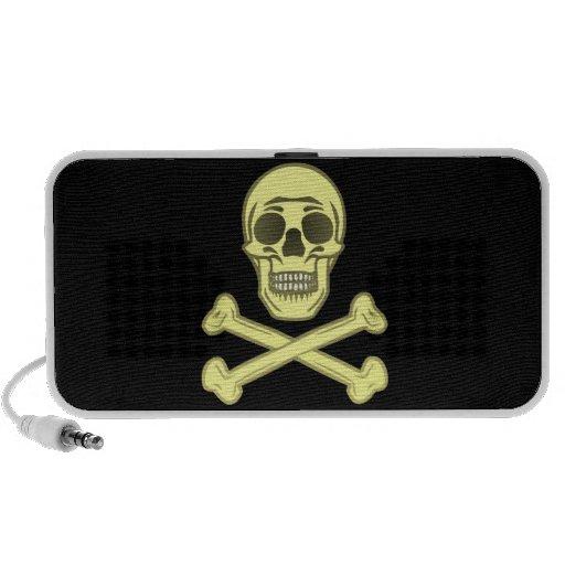 Skull head bone skull bones portable speakers