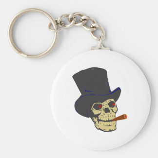 Skull head cigar skull cigar keychain