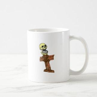 Skull head cross skull CROSSes Mugs