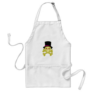 Skull head cylinder hat skull with top has adult apron