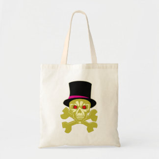 Skull head cylinder hat skull with top has tote bag