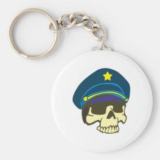 Skull head general skull keychain