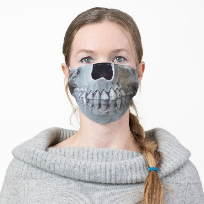 Skull Head Gothic Black And White Trendy Art Cloth Face Mask