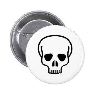 Skull head mask button