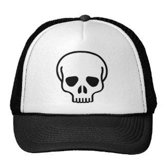 Skull head mask trucker hat
