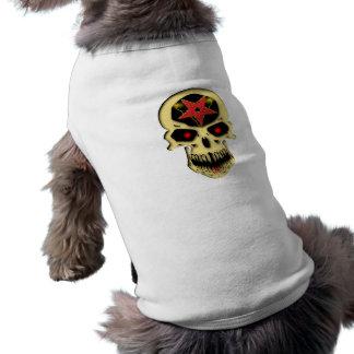 Skull head pentagram skull pentacle shirt