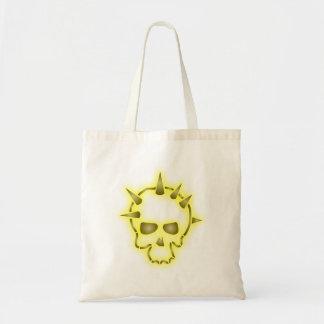 Skull head points skull spikes tote bag