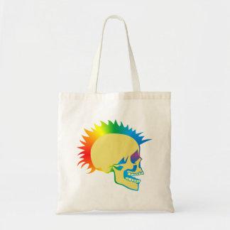Skull head punk skull tote bag