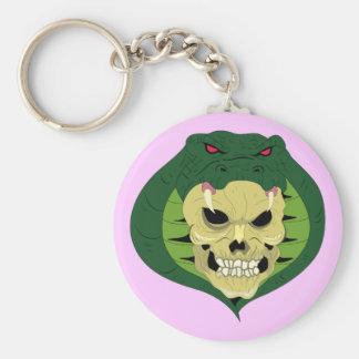 Skull head queue skull snake keychain