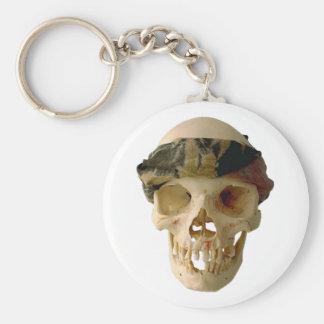 Skull head skull headband headband basic round button keychain