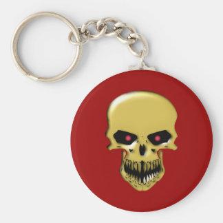Skull head skull keychain