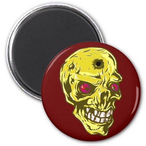 Skull head skull refrigerator magnet