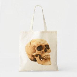 Skull head skull tote bag