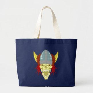 Skull head skull Viking Viking Large Tote Bag