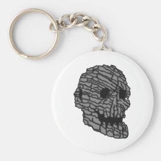 Skull head stone skull rock keychain
