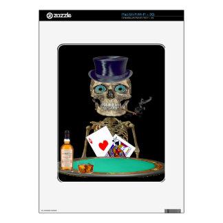 Skull head t-shirts skins for iPad