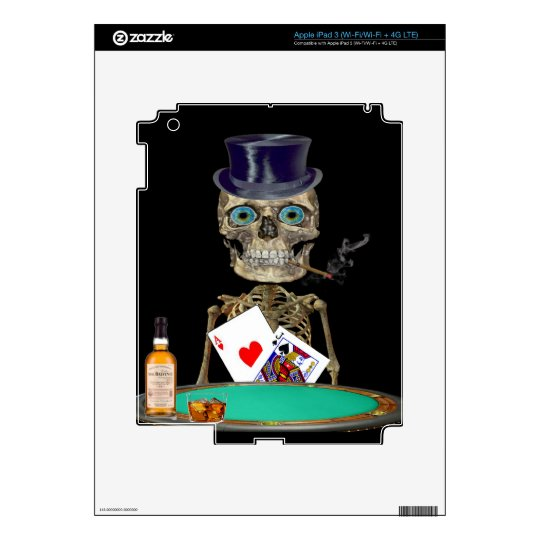 Skull head t-shirts skins for iPad 3