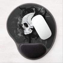 skull head with dragon graffiti gel mouse pad