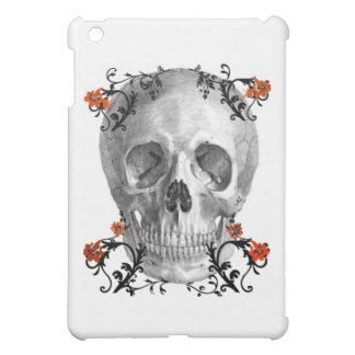 SKULL HEAD WITH VINES VINTAGE AND FLORAL PRINT CASE FOR THE iPad MINI