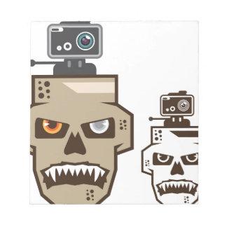 Skull headcam notepad