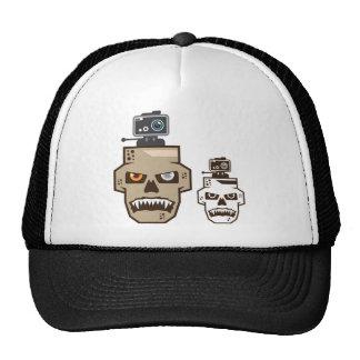 Skull headcam trucker hat
