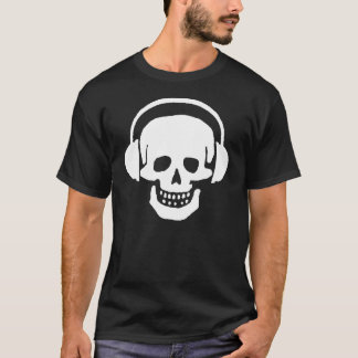 Skull Headphones Dark T-Shirt