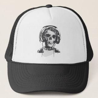 SKULL HEADPHONES TRUCKER HAT
