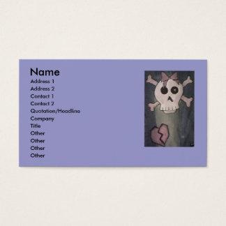 Skull & Heart Business Cards