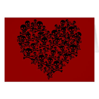 Skull Heart Card